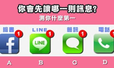 最先讀,哪一則,訊息,性格,第一,心理測驗,星座寶寶